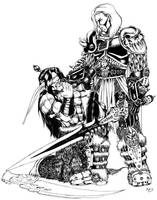 Arthas vs Illidan by radblade