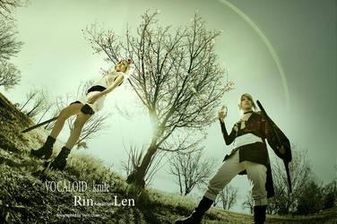 Volcaloid : Knife : Rin Kagamine Len by qcamera