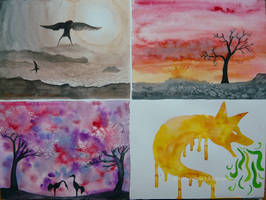 Watercolour collection by Woodswallow
