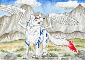 ACEO wolf-minori by Woodswallow