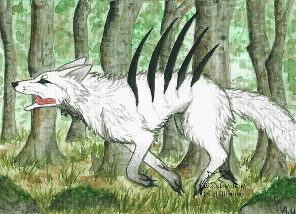 ACEO Imaginary-wolf by Woodswallow