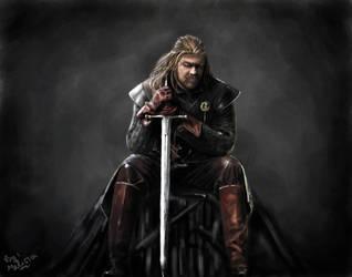 Eddard Stark-game of thrones by gukgukngeong
