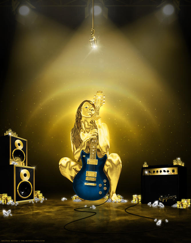 Rock n'Roll Gold by TheAlteredPixel