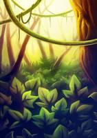 Jungle Sunset by AtraElegie