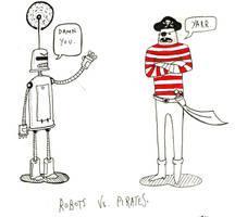 Robots VS. Pirates by john-alan
