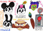 The Epic Mickey Crew and Weapons by badberry123