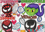 The Spider, Goblin and Symbiotes. by badberry123