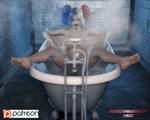 Bath Time at the Asylum by Redrobot3D