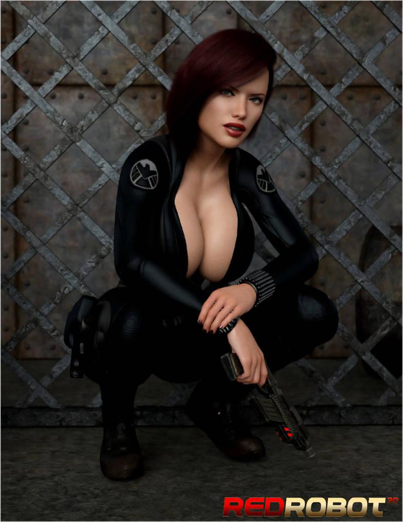 The Black Widow by Redrobot3D
