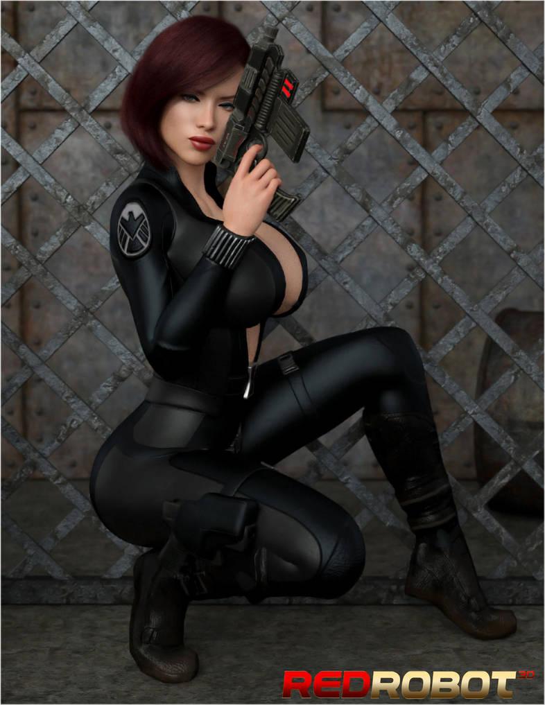 The Black Widow 3 by Redrobot3D