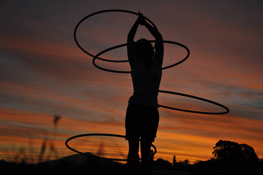 Hooping In The Sunset by 0-Circus-Freak-0