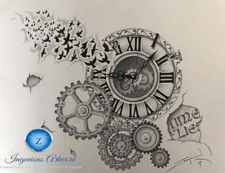 Time flies piece  by ArtisticPerez89