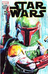 Boba Fett on Star Wars Sketch Cover by skyscraper48