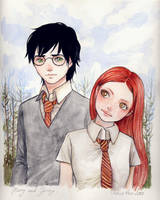 Harry Potter and Ginny Weasley by keerakeera