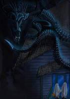 Xenomorph Dragon Snake Hybrid Halloween entry by timohuovinen