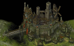 Art for game. Neutral city. level 3 by Jonik9i