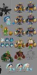 Concepts for game characters 2 by Jonik9i