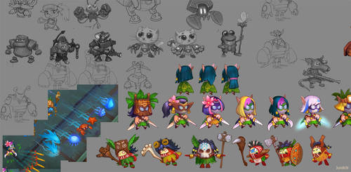 Concepts for game characters 5 by Jonik9i