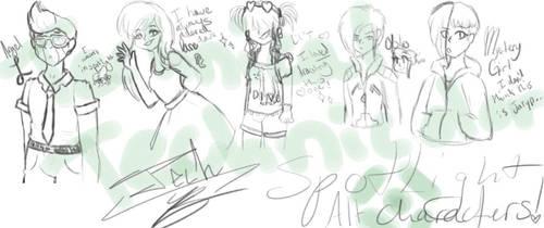 Dance central doodles by TechnicalTechnicolor