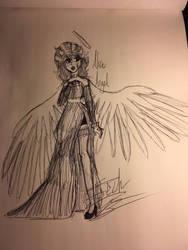 .:Inktober 6:. Alice Angel by TechnicalTechnicolor
