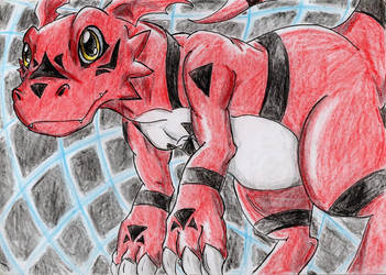 Digimon - Guilmon [For BanzaiLuffy] by Hukkis
