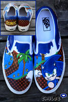 Sonic the Hedgehog Vans by Chylde