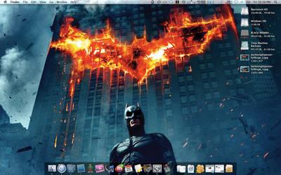 The Dark Knight in Flames by aliasdagain