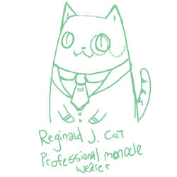 Reginald J. Cat by Marzipanapple