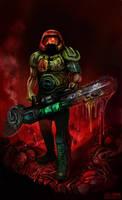 Doom Marine by krisztianhallai