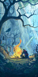 Firelink Shrine by Francoyovich