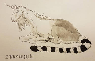 Inktober 2: Tranquil by Achinis