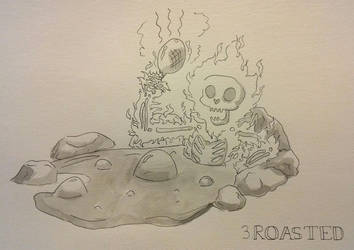 Inktober 3: Roasted by Achinis