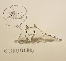Inktober 6: Drooling by Achinis