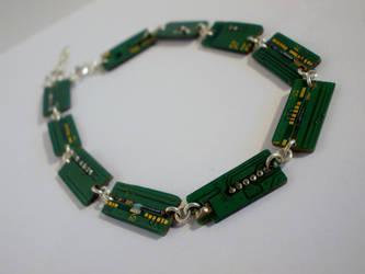 Circuit Board Bracelet by lilythebeige