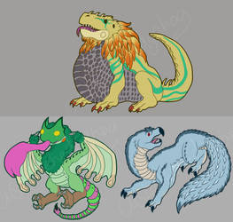 Monster Hunter World Stickers by ashe-the-hedgehog