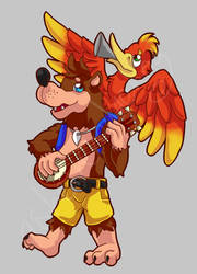 Banjo Kazooie by ashe-the-hedgehog