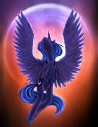 Moon rise - Princess Luna by sensum