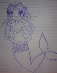 Unfinished mermaid sketch by Ancellaca