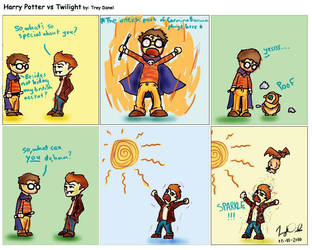 Harry Potter vs Twilight by IndieGrunge