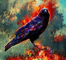 three eyed crow by Ururuty