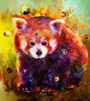 red panda by Ururuty