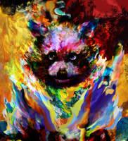 raccoon by Ururuty