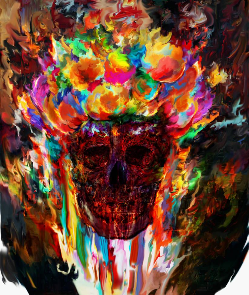 autumn skull by Ururuty