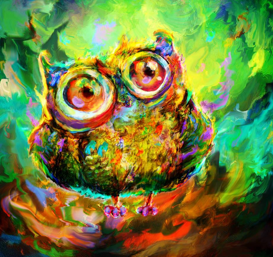 curious owl by Ururuty