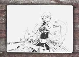 Keyblade Master - Aqua - Day 6 Inktober 2016 by Jhincx-Faust