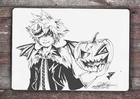 The Pumpkin Prince - Day 31: Inktober 2016 by Jhincx-Faust