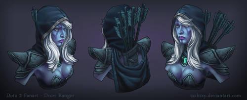 Dota 2 FanArt - Drow Ranger (Character Bust) by tsabszy