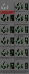 Hand Painted Texturing Tutorial, Wine Bottle by tsabszy