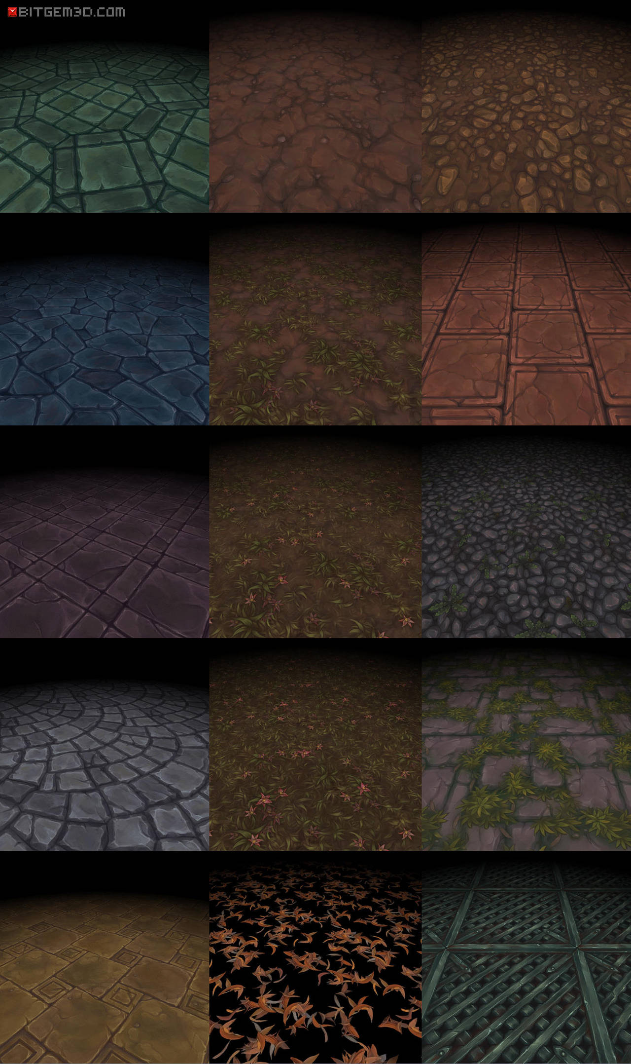 Bitgem Textures Vol.1-3 by tsabszy