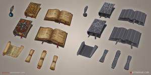 Loot, Books and Scrolls by tsabszy